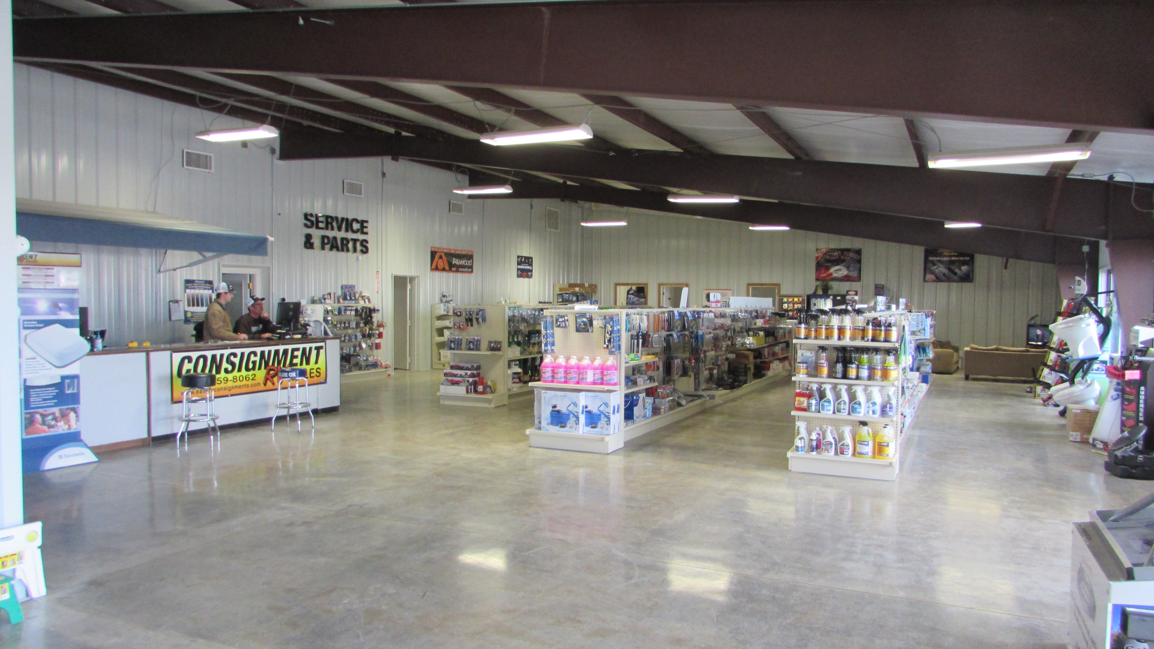 Consignment RV Sales Service Department